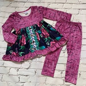 Boutique Girls Purple Ruffle Outfit